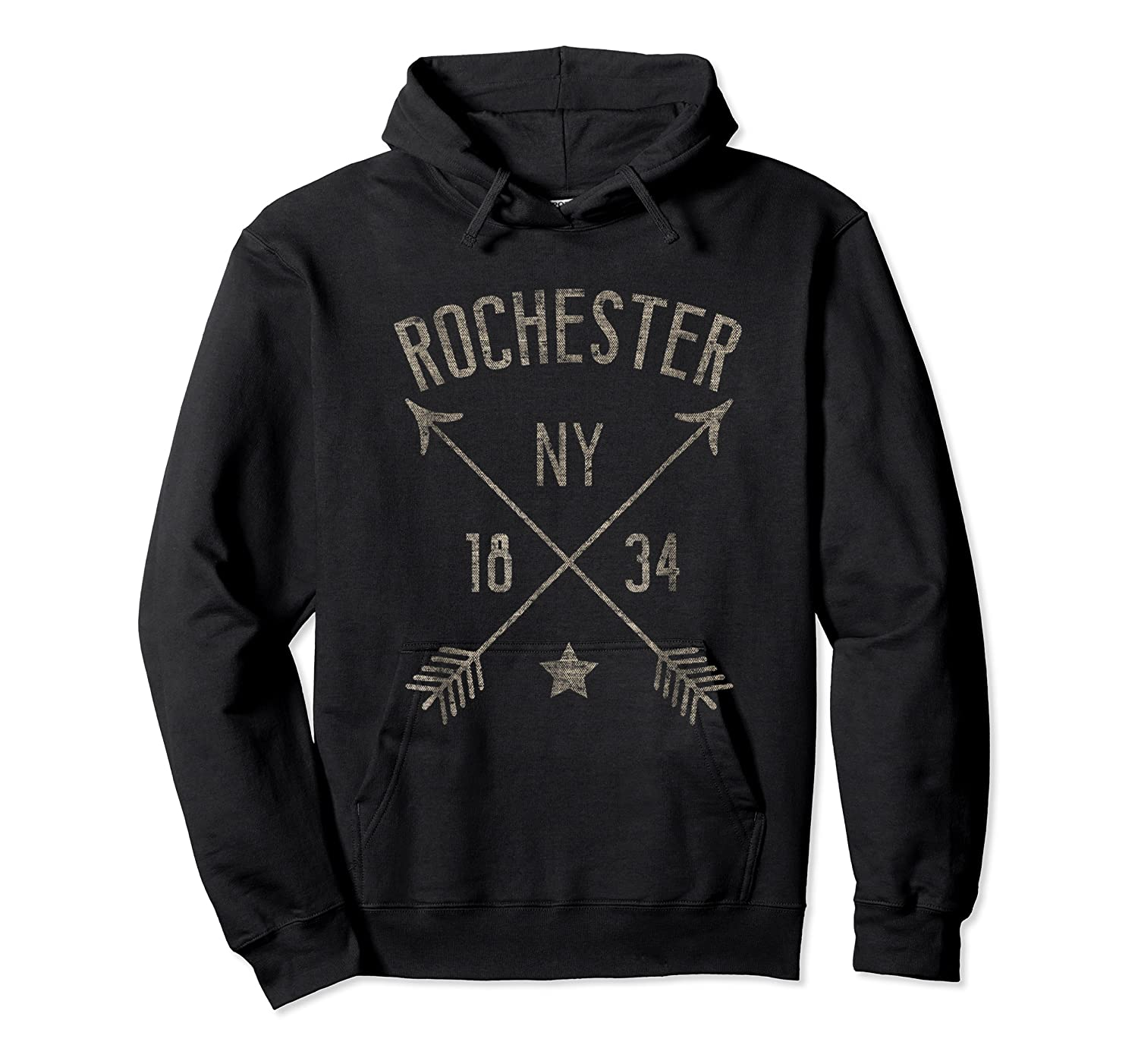 Rochester Ny T Shirt Cool Vintage Retro Style Home City Unisex Pullover Hoodie