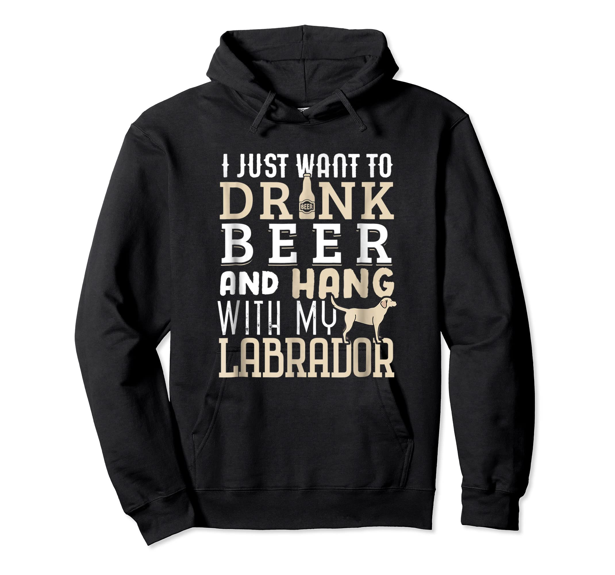 Labrador Dad Shirt Funny Father's Day Lab Retriever Dog Beer-Hoodie-Black