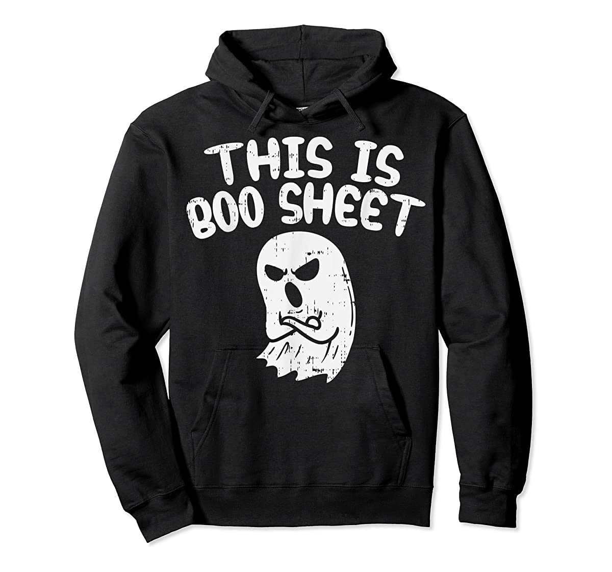 This Is Boo Sheet Ghost Pun Funny Halloween Costume Gift T-Shirt-Hoodie-Black