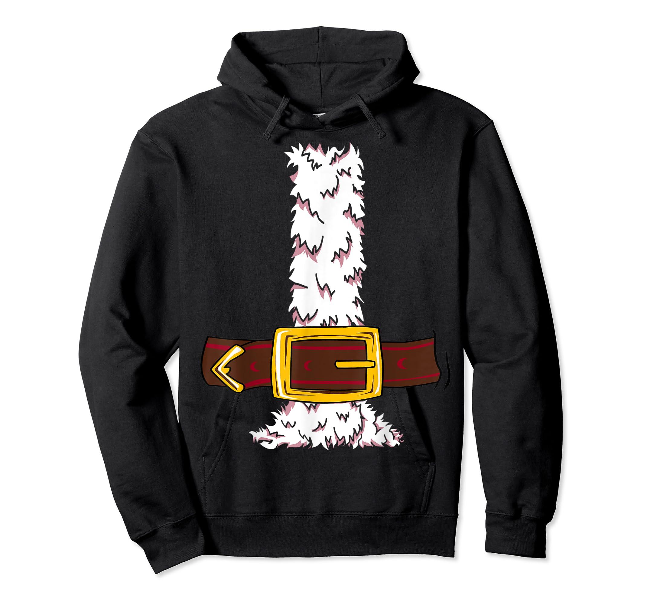 Funny Christmas gift for boys girls men women Santa costume T-Shirt-Hoodie-Black