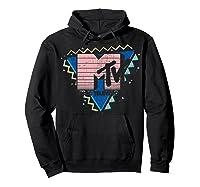 Pink Stripes Logo 90's Retro Design Graphic Shirts Hoodie Black