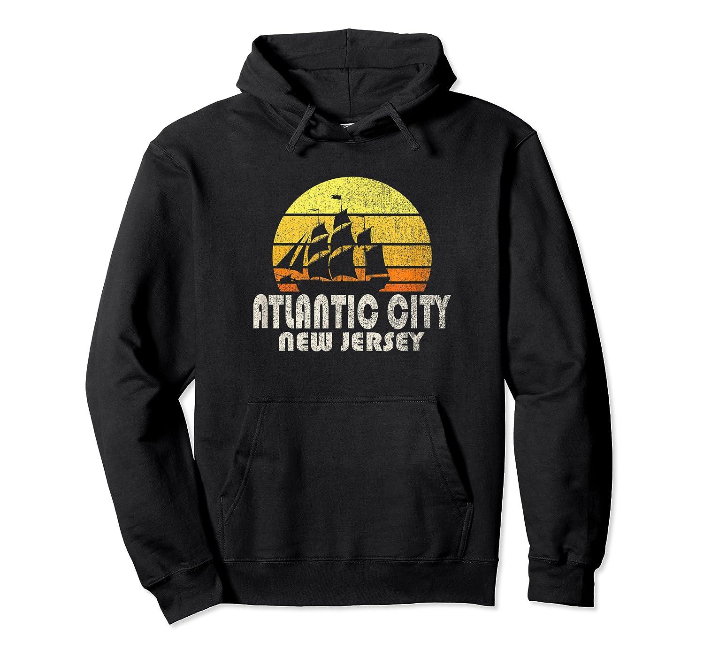 Retro Atlantic City Nj Beach Vacation T Shirt Unisex Pullover Hoodie