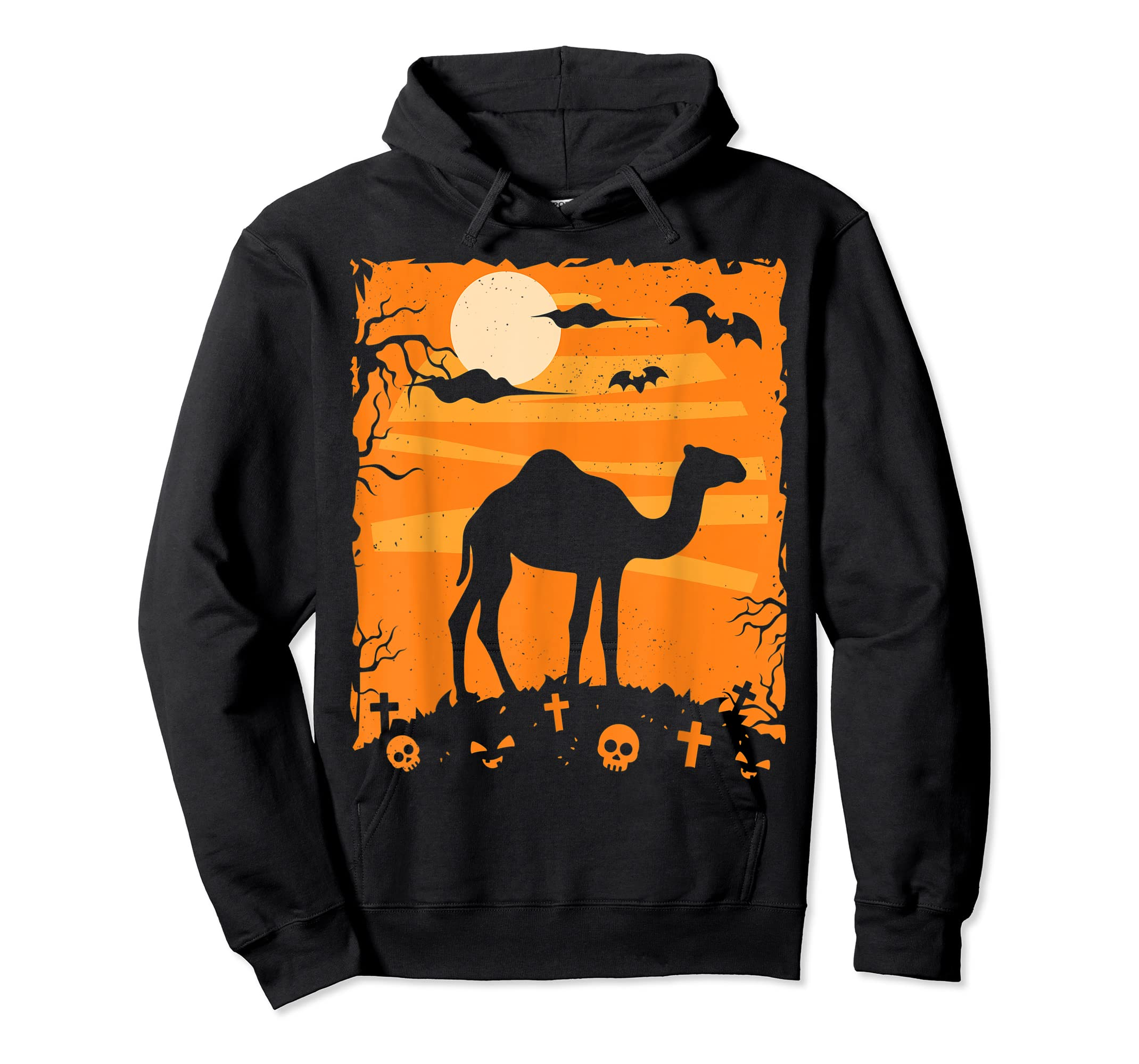 Camel Halloween Costume Animal Funny Pumpkin Outfit Gift T-Shirt-Hoodie-Black