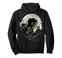 Star Wars Last Jedi Rebels Moon Silhouette Graphic T-shirt Hoodie Black