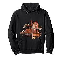Shanghai Building S T Shirt Design Hoodie Black