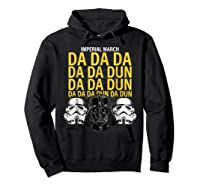 S Darth Vader Imperial March Graphic Shirts Hoodie Black