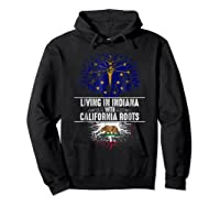 Indiana Home California Roots State Tree Flag Gift Shirts Hoodie Black