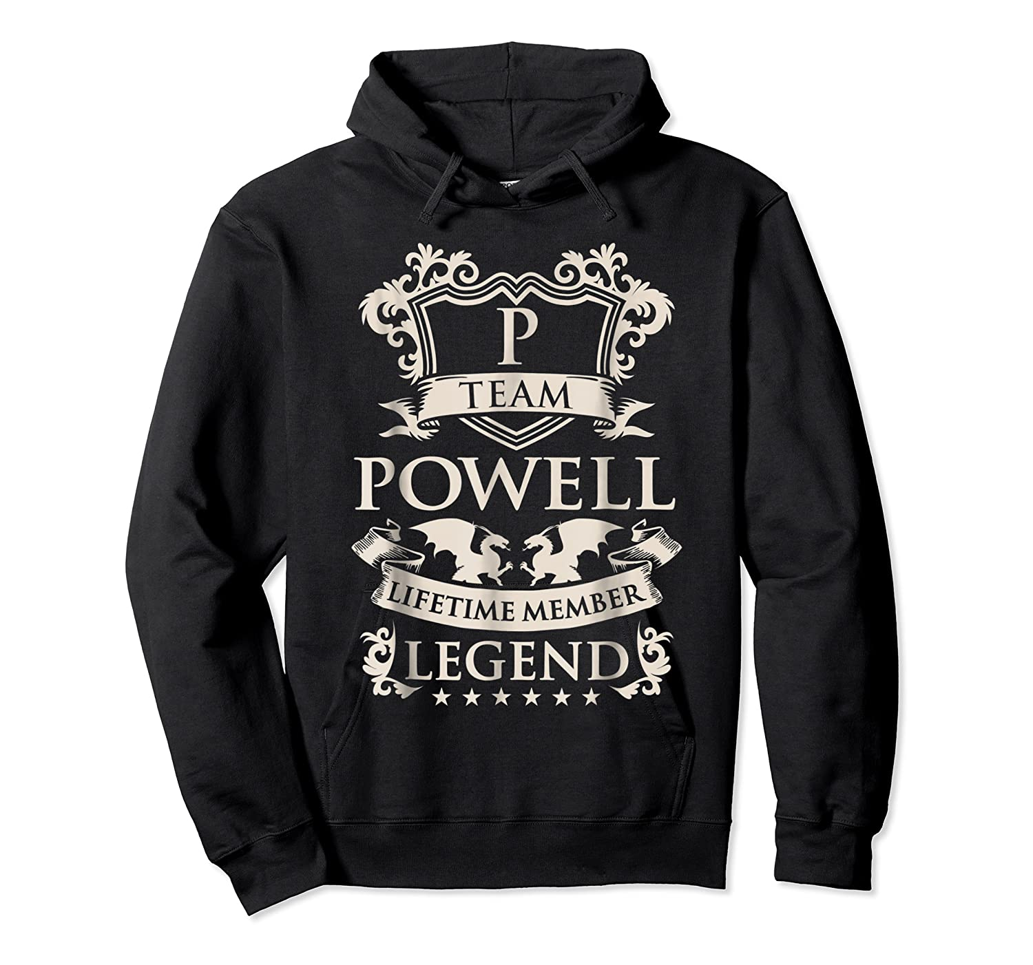 Team Powell Last Name Gifts Vintage Legend Family Tshirt Unisex Pullover Hoodie
