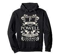 Team Powell Last Name Gifts Vintage Legend Family Tshirt Hoodie Black