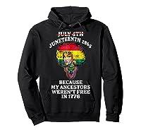 Ancestors Black African American Flag T Shirt Hoodie Black