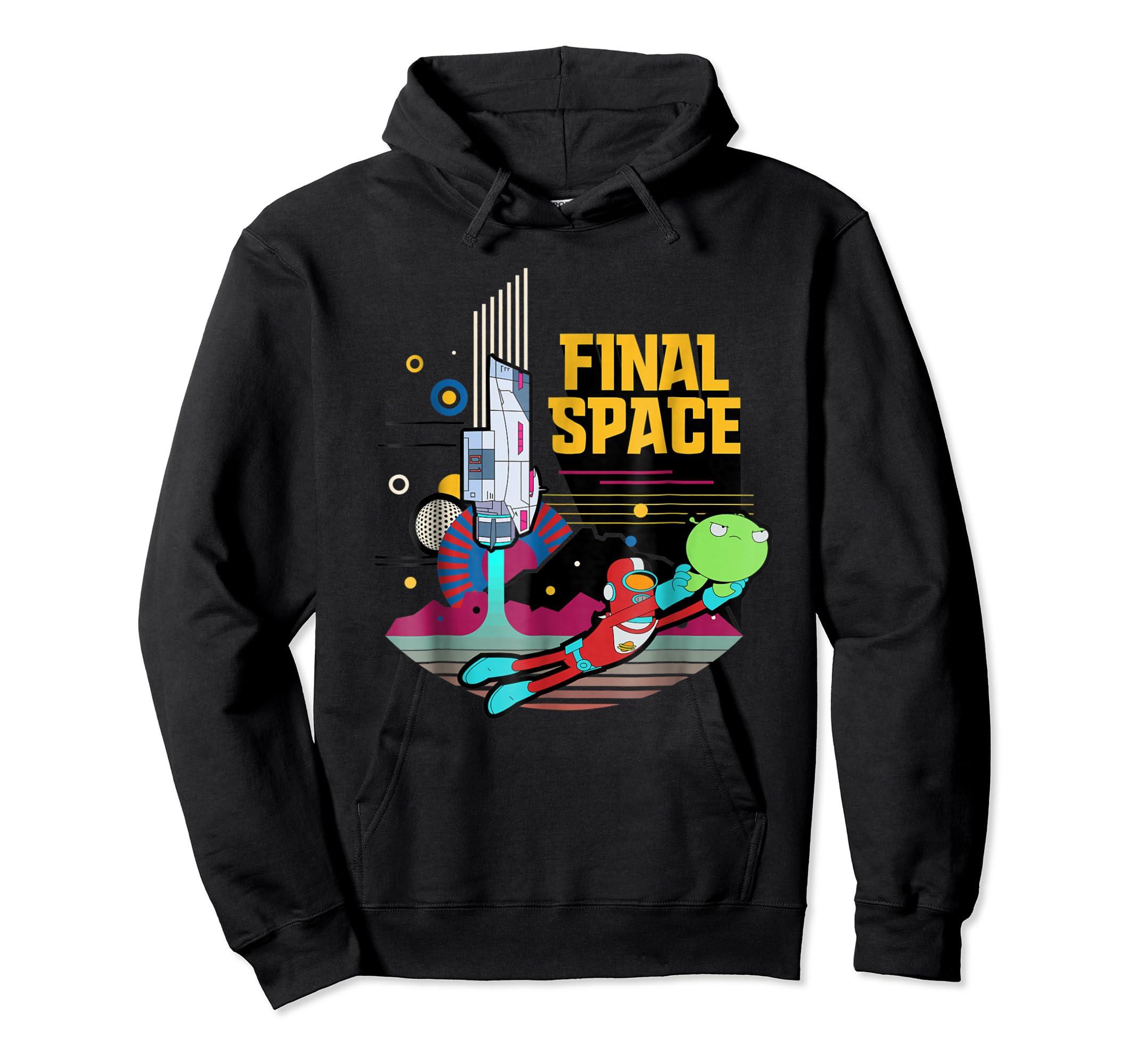 Final Space Retro Style T-shirt-Hoodie-Black