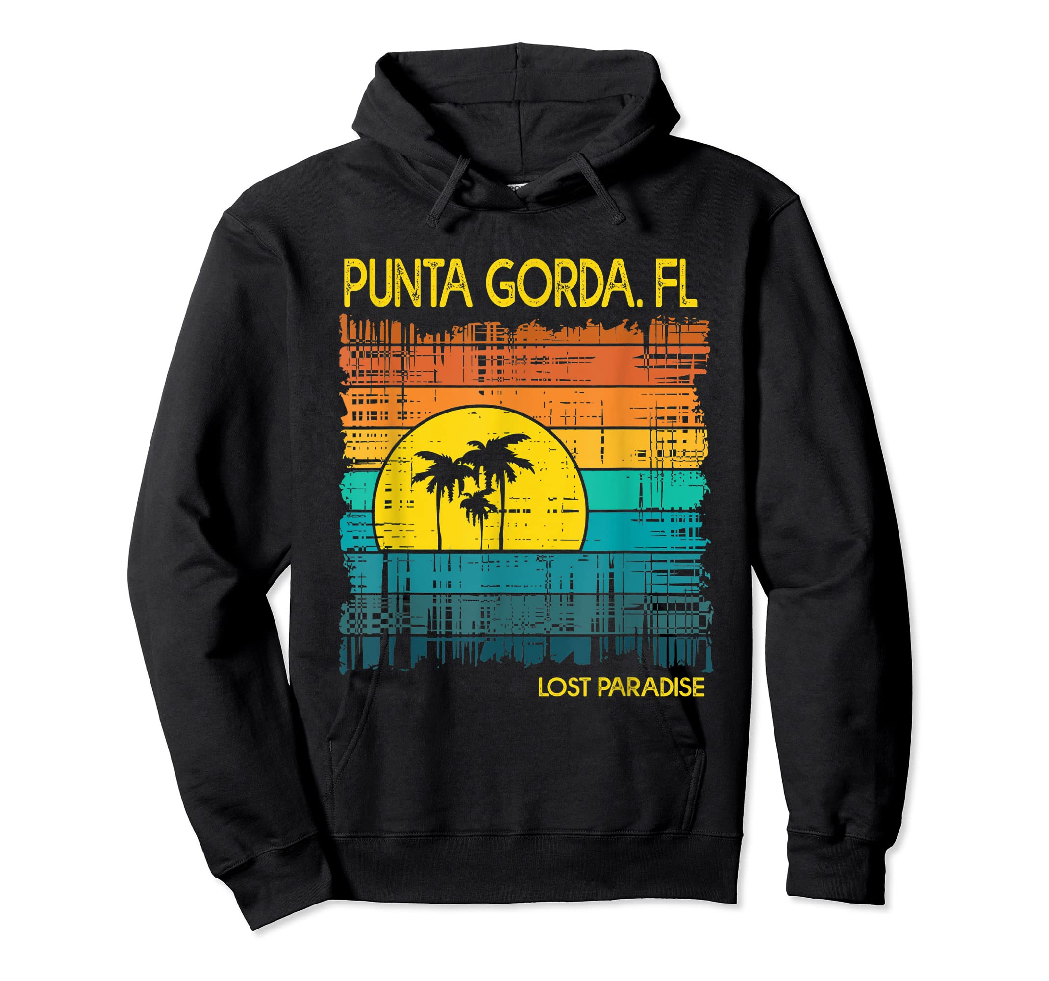 Punta Gorda Beach Florida Shirt Sunset-Hoodie-Black