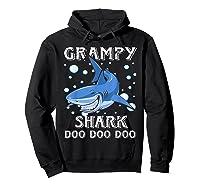 Grampy Shark Shirt Fathers Day Gift T-shirt Hoodie Black