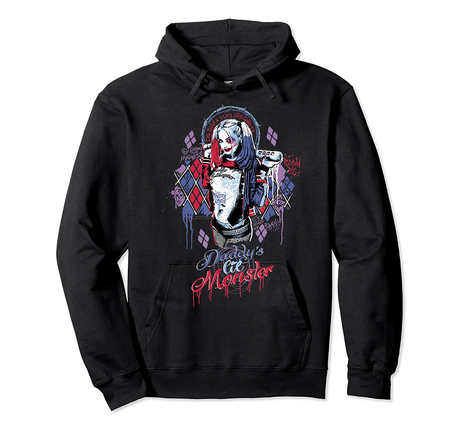 Suicide Squad Harley Quinn Bad Girl Shirts Unisex Pullover Hoodie