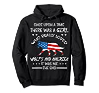 Once Upon A Time Wolf America 4th Of July T Shirt Gifts Hoodie Black