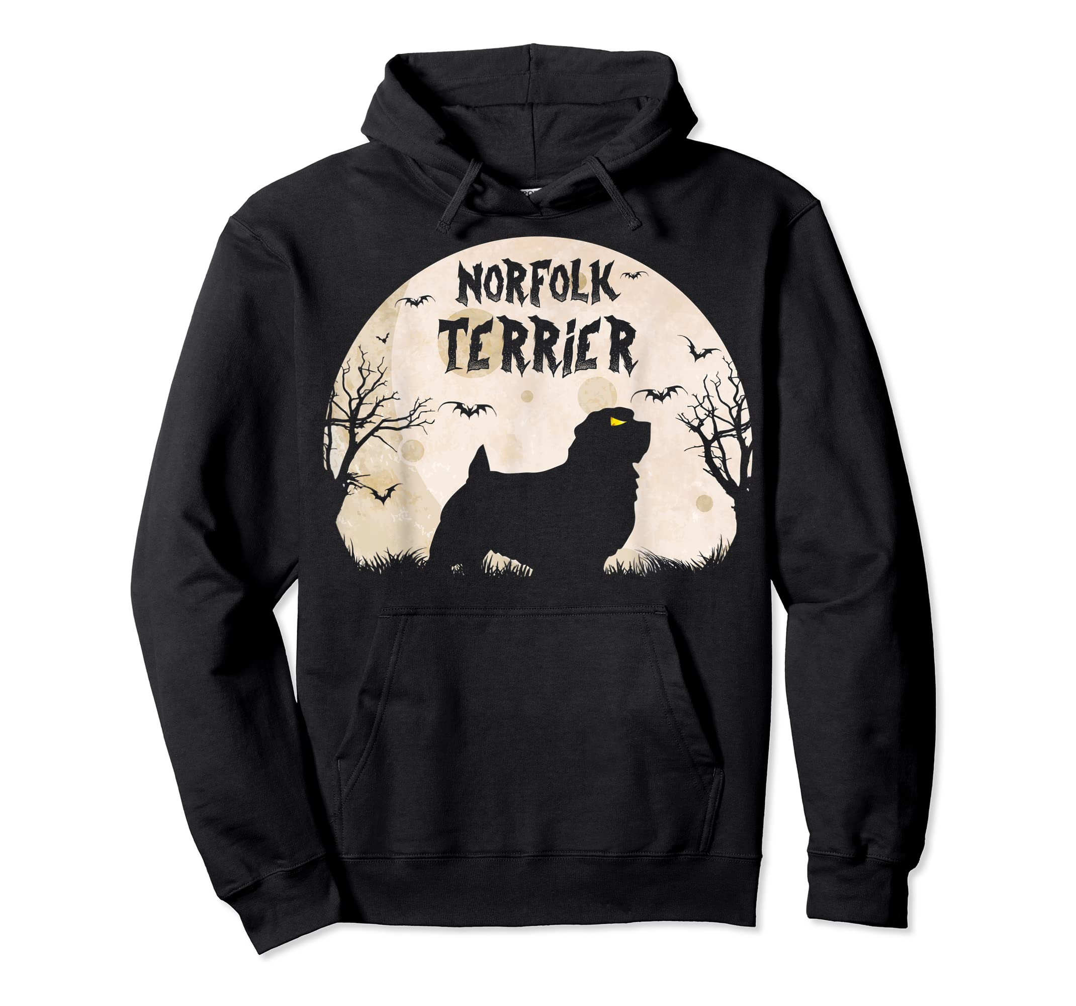 Halloween Horror Norfolk Terrier T-Shirt-Hoodie-Black