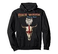 Bike Week Bull Head Skull Motorcycle T Shirt Hoodie Black
