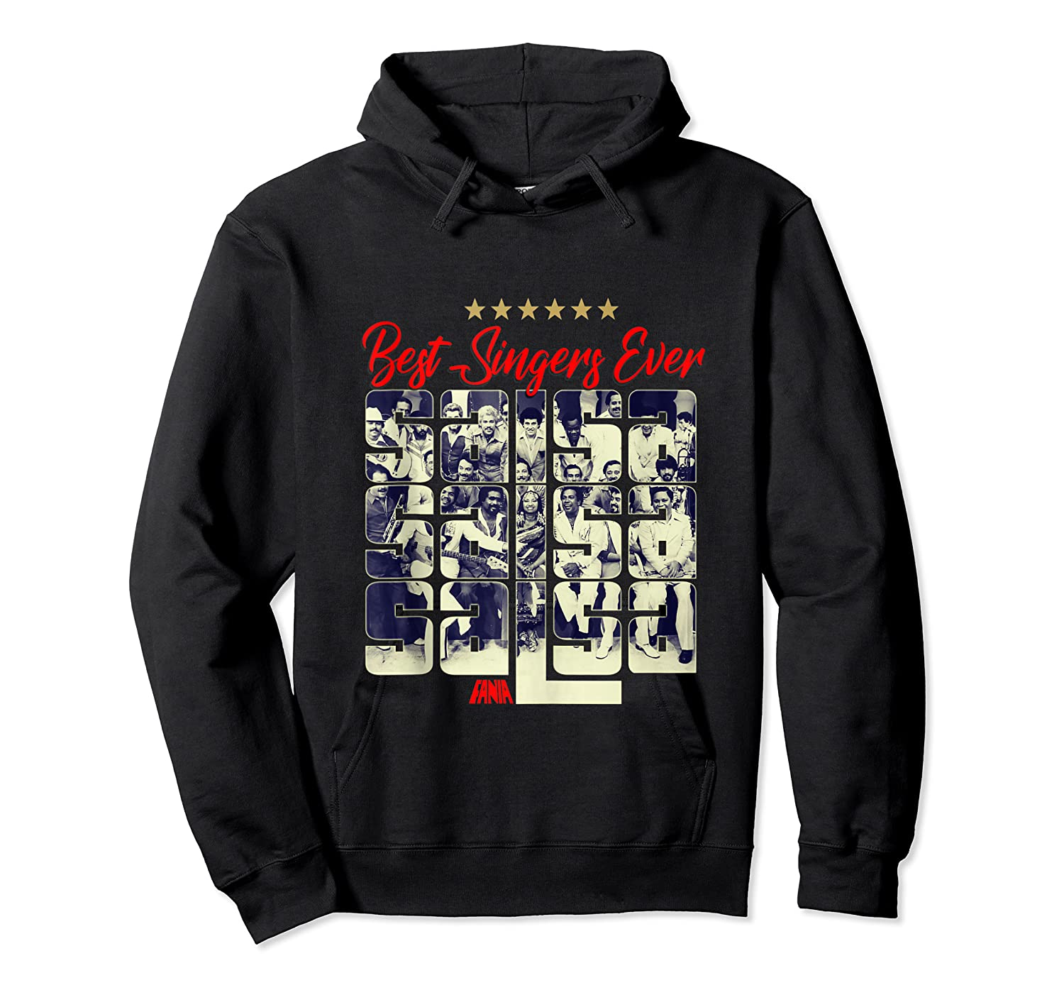 Fania All Star Best Singers Ever Salsa Power Tank Top Shirts Unisex Pullover Hoodie
