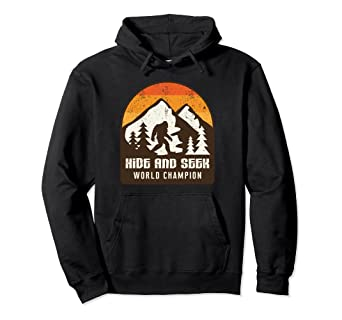 d0c64d26 Image Unavailable. Image not available for. Color: Vintage Retro Hide And Seek  World Champion Bigfoot Hoodie