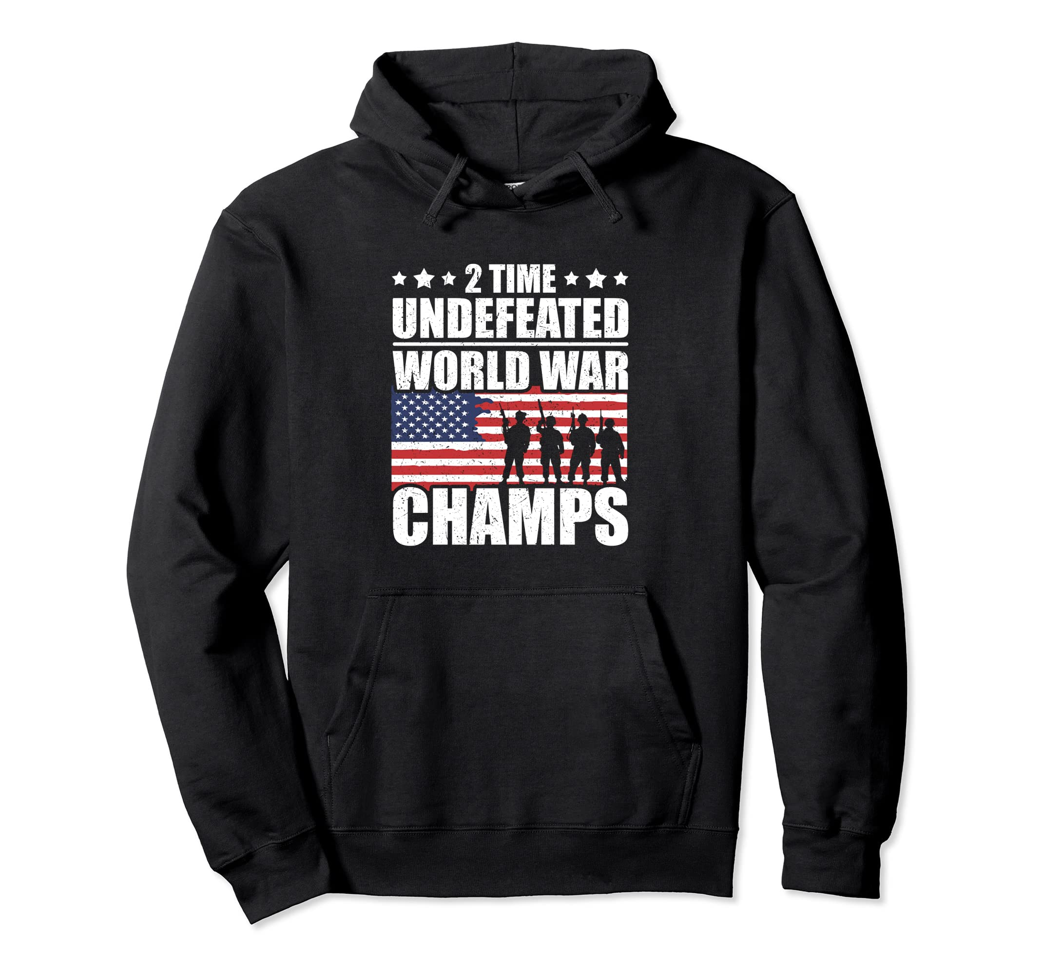2 Time Undefeated World War Champs Hoodie Flag Hoodie ANZ