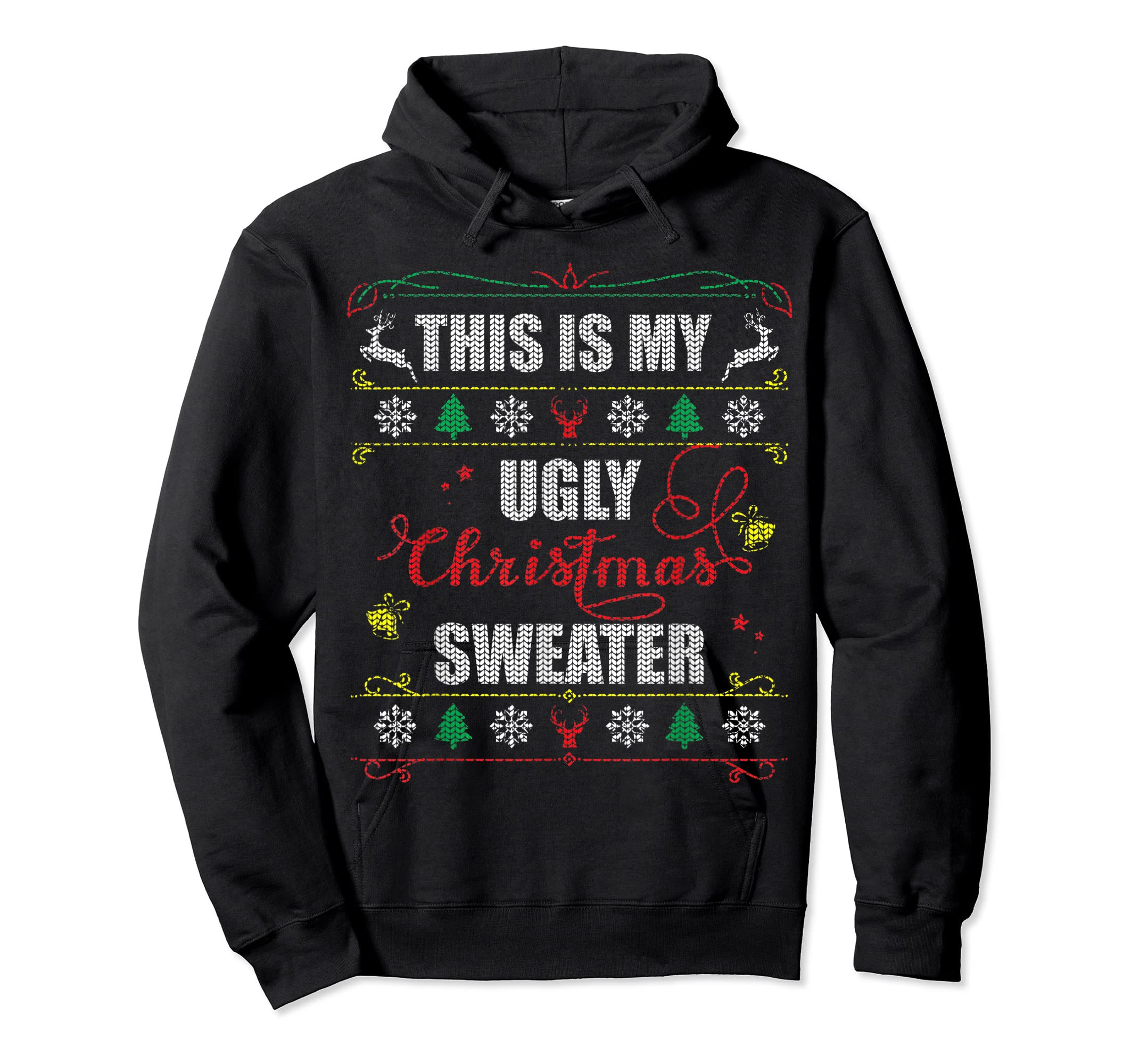 This Is My Ugly Christmas T-Shirt-Hoodie-Black