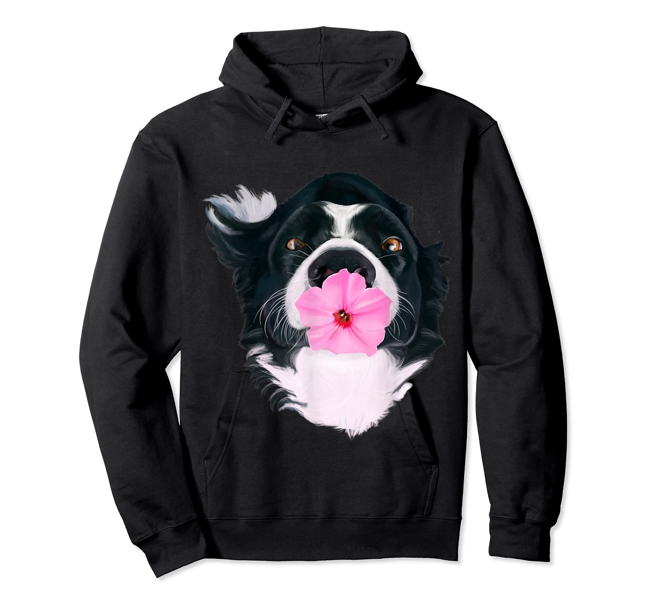 Border Collie Sweet Dog T-Shirt Dogs Tee Shirt Gifts-Hoodie-Black
