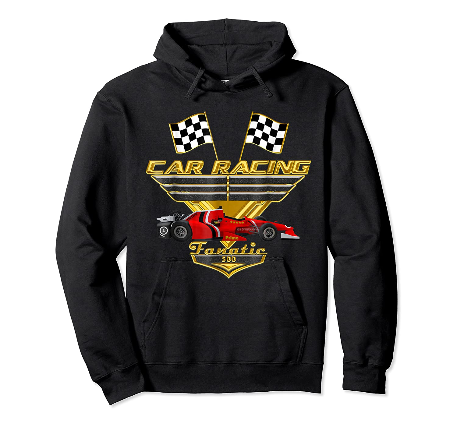 Car Racing Fanatic 500 Miles T Shirt Red Car Edition Unisex Pullover Hoodie
