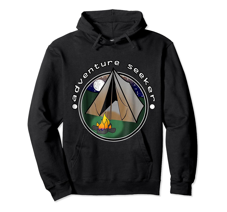 Adventure Seeker T Shirt Camping Outdoor Travel Unisex Pullover Hoodie