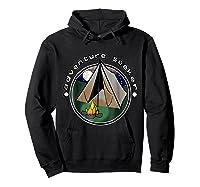 Adventure Seeker T Shirt Camping Outdoor Travel Hoodie Black