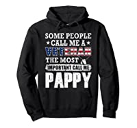 S Some People Call Me A Veteran Pappy Tshirt Fathers Day Hoodie Black
