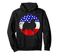 American Flag Japanese Chin Japanese Chin Dog Shirts Hoodie Black