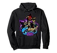 Disney Aladdin Main Cast Collage Portrait Logo Premium T-shirt Hoodie Black