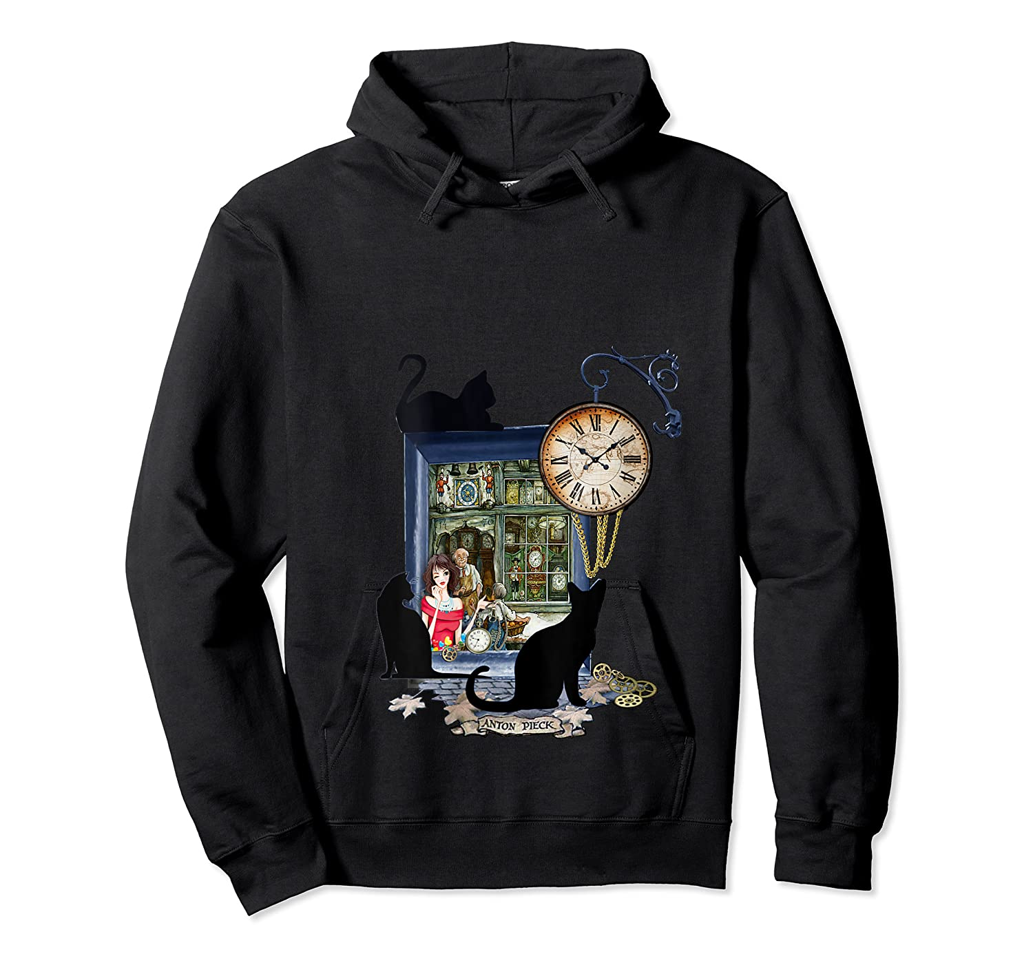 Steampunk Vintage The Clock Maker Shirts Unisex Pullover Hoodie