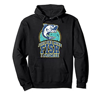 2e9330c0 Image Unavailable. Image not available for. Color: Funny Just One More Fish  I Promise Joke Fishing Hoodie