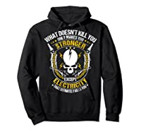 Electrician Funny T-shirt Electricity Sparky Humor Hoodie Black