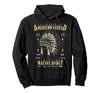 Native American Warrior, Indian Native Spirit Shirts Hoodie Black