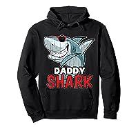 Dabbing Daddy Shark Fathers Day Gift Matching Shirts Hoodie Black