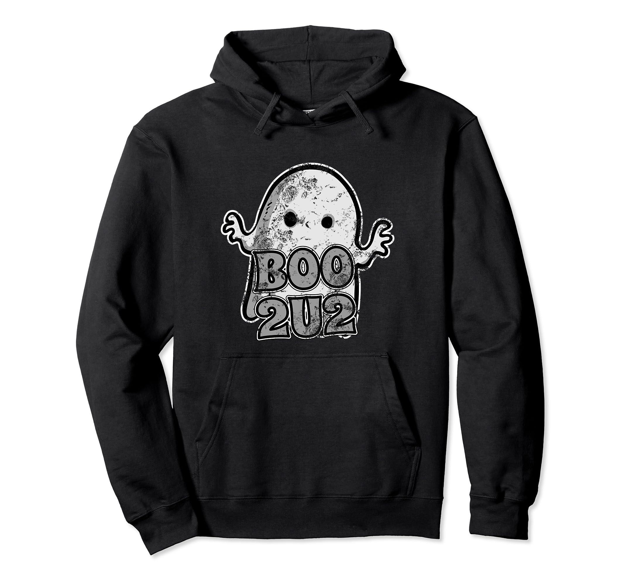 Boo 2U2-Cute Ghost Halloween Party Trick or Treat Hoodie-Rose