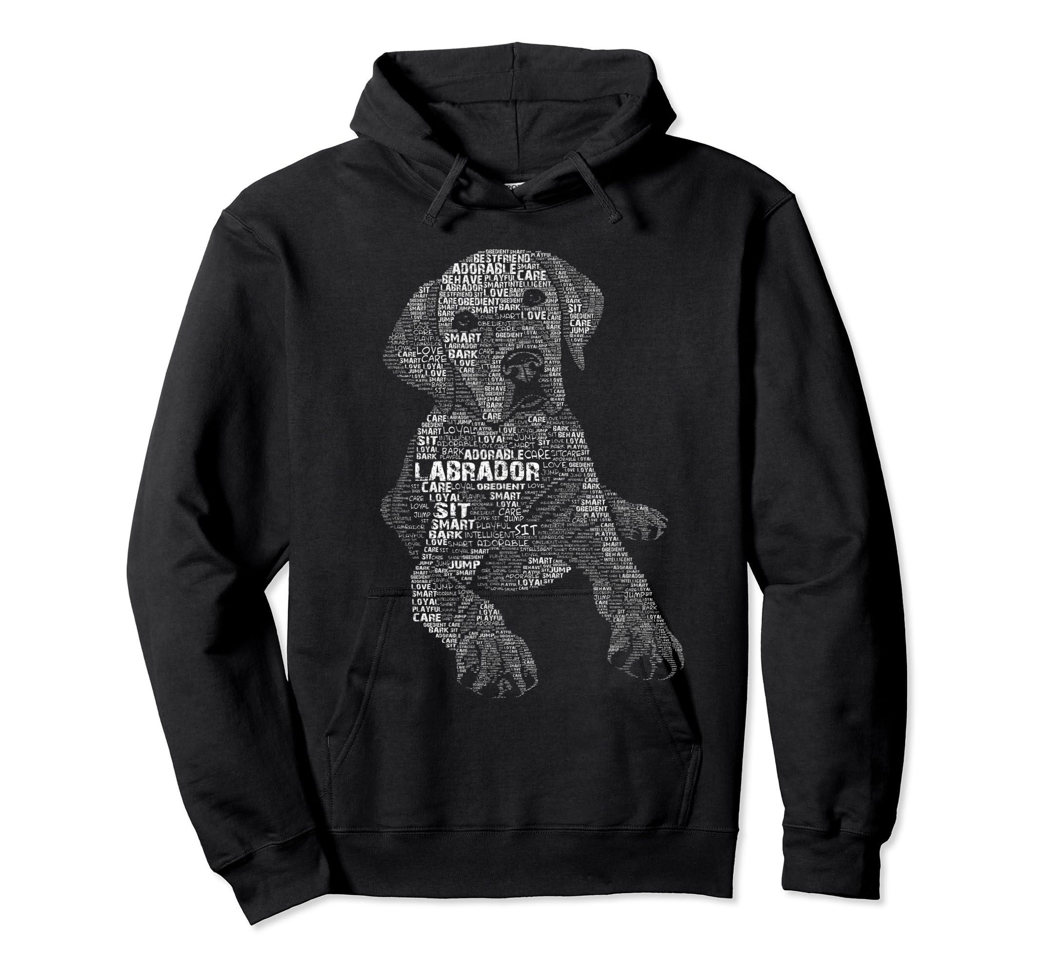 Yellow Chocolate Black Labrador Retriever - Caligram T Shirt-Hoodie-Black