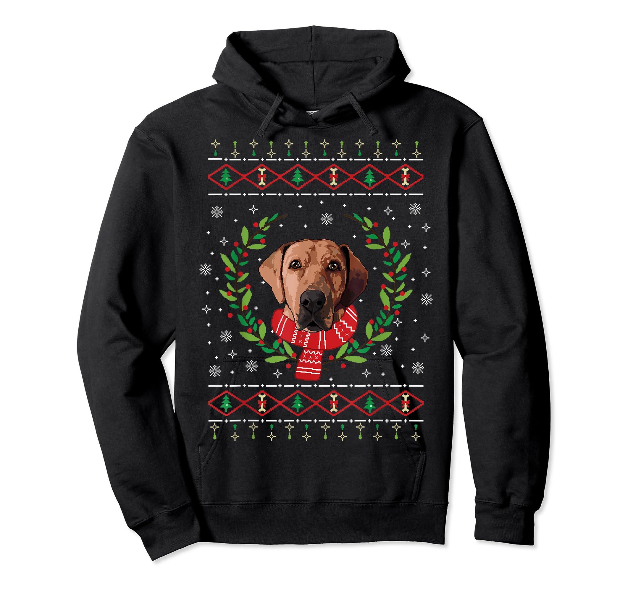Broholmer Ugly Christmas Jumper T-Shirt Gift T-Shirt-Hoodie-Black