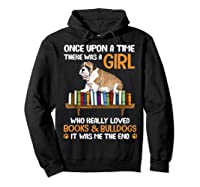 There Was A Girl Loved Book And Bulldogs Tshirt Gifts Hoodie Black