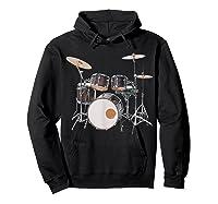 Awesome Drum Set Rock Music Band Shirts Hoodie Black