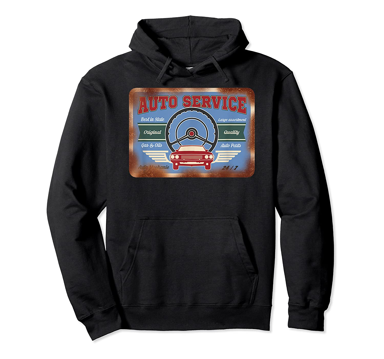 Auto Service Old Stuff Rusty Sign T Shirt Gift For Pickers Unisex Pullover Hoodie