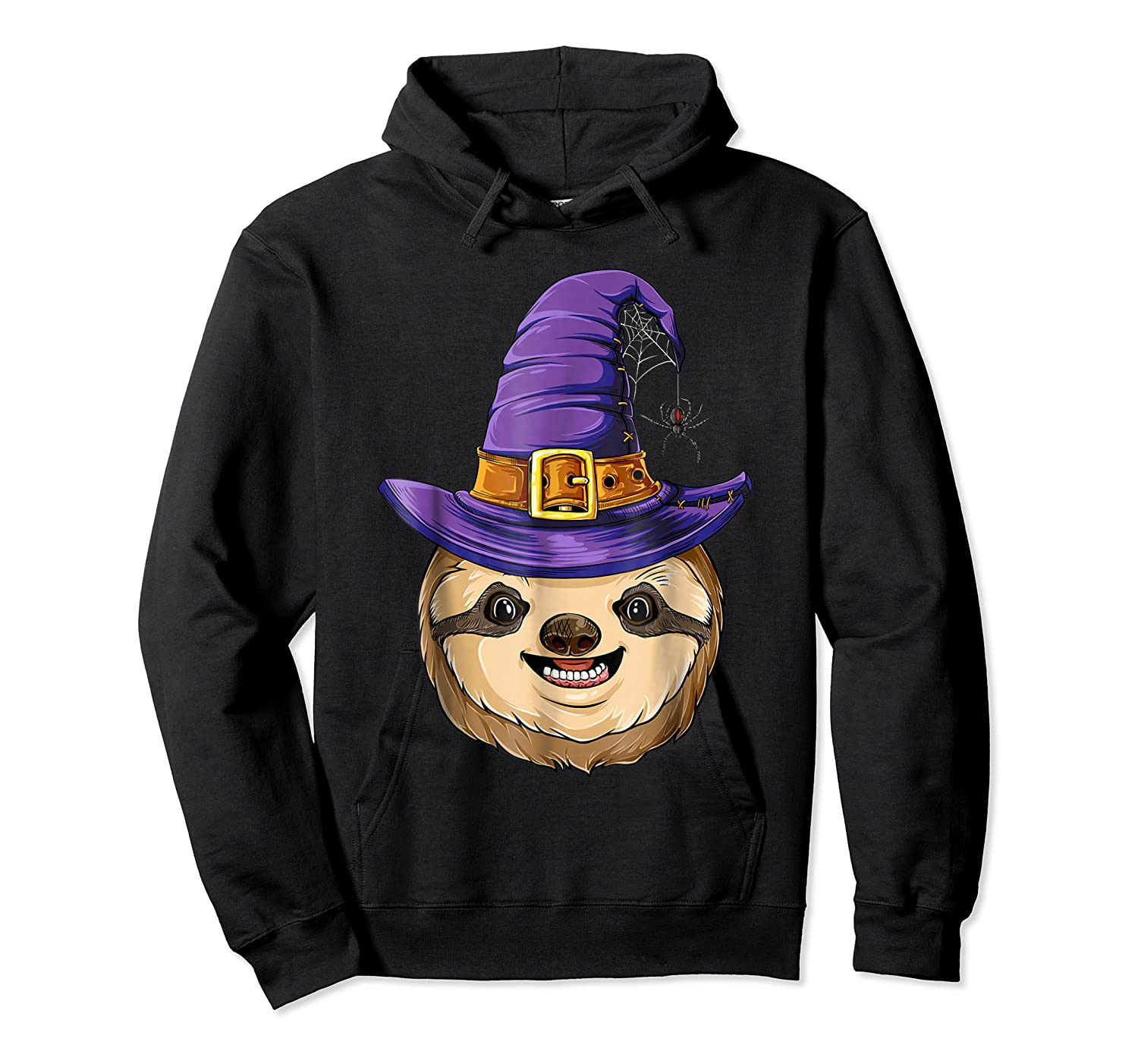 Sloth Witch T Shirt Halloween Girls Funny Costume Unisex Pullover Hoodie
