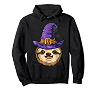Sloth Witch T Shirt Halloween Girls Funny Costume Hoodie Black