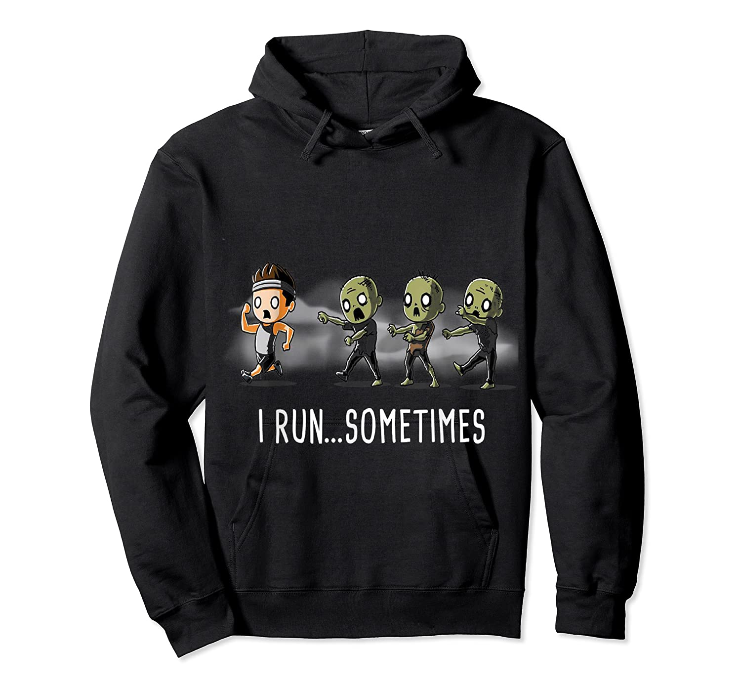 Run Sometimes Super Funny Dieting Shirts Unisex Pullover Hoodie