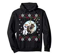Frozen Olaf Sven Warm Wishes Ugly Sweater Shirts Hoodie Black