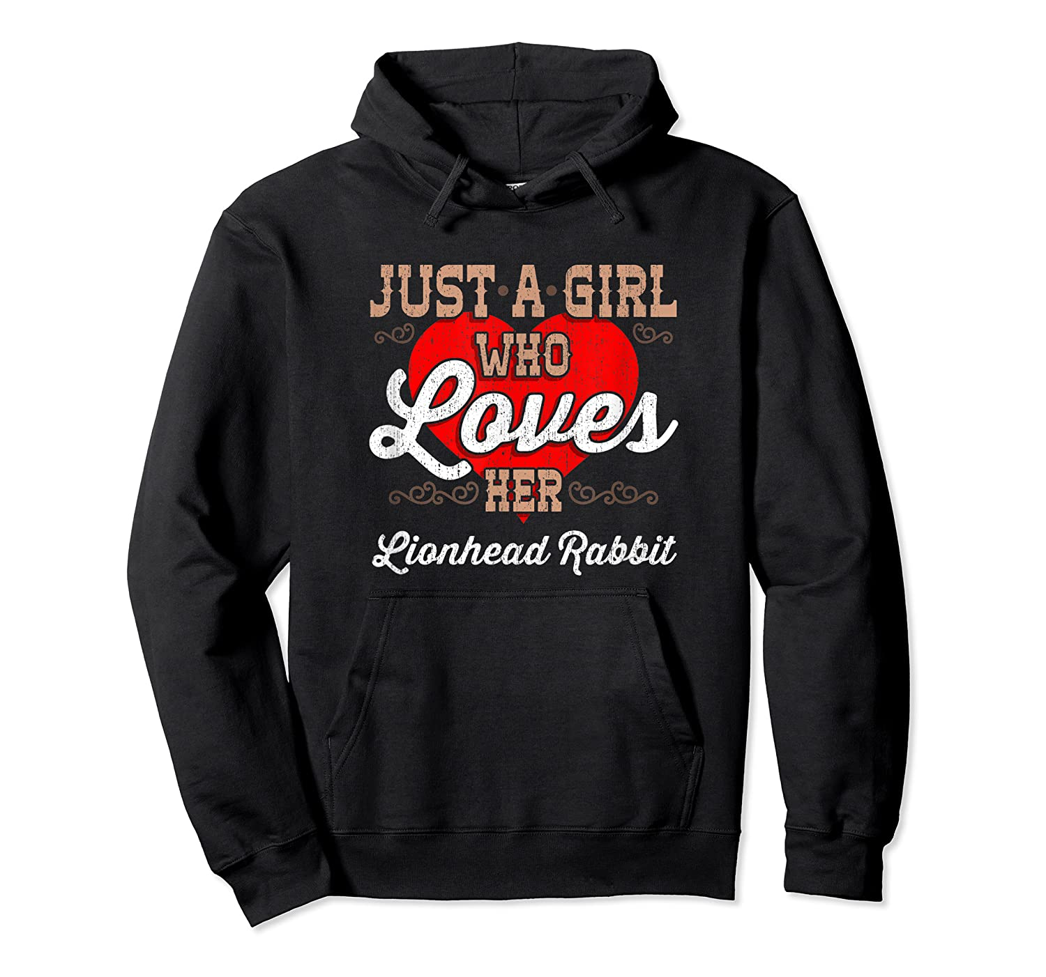 Just A Girl Who Loves Her Lionhead Rabbit Shirt For  Unisex Pullover Hoodie