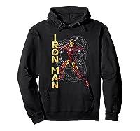 Marvel Avengers Assemble Iron Man Tech Graphic T-shirt Hoodie Black