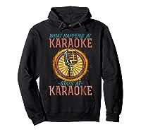 Karaoke Music Gifts Sing Music Bar Singer Vegas Style Mic Shirts Hoodie Black